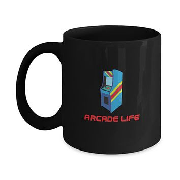 Video Gamer Arcade Life Vintage Classic Video Game Coffee Mug