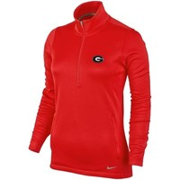 Georgia Bulldogs Nike Women's Thermal Half Zip Jacket – Red