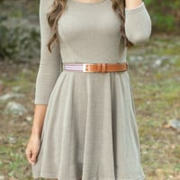 Cable Knit A-Line Mini Dress