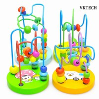 Early Learning Educational Toys For Children Kids Baby Colorful Wooden Toys Around Beads Toy Kids Baby Toys Random