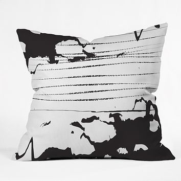 Julia Da Rocha Inkblot Outdoor Throw Pillow