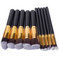 10Pcs Pro Makeup Blush Eyeshadow Blending Set Concealer Cosmetic Make Up Brushes Tool Eyeliner Lip Brushes