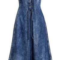 Esmee Denim Strapless Dress | Moda Operandi