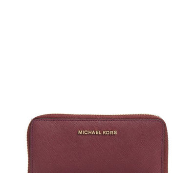 Michael Kors Large Jet Set Saffiano Leather Phone Wristlet - Multiple Colors