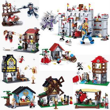 Sluban 0611 0612 0613 0615 0620 877pcs Ninja Assassins Creed Knight Armor Medieval Castle Building Block Brick Toys for Children