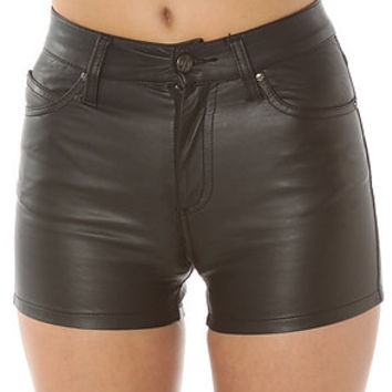 Tripp NYC  Hi-Waist faux leather shorts black� karmaloop