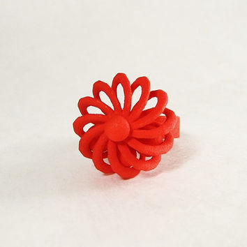 Turbine Fidget Ring - 3D Printed Ring with moveable parts that lets you fiddle while you think.