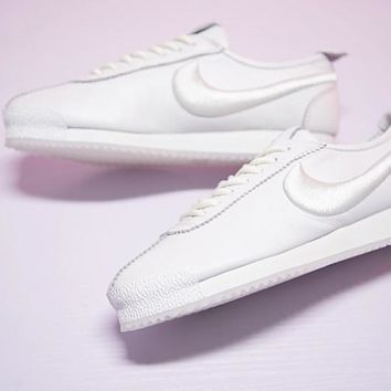 "Nike Cortez '72 Retro Running Shoes ""Triple White""881205-100"