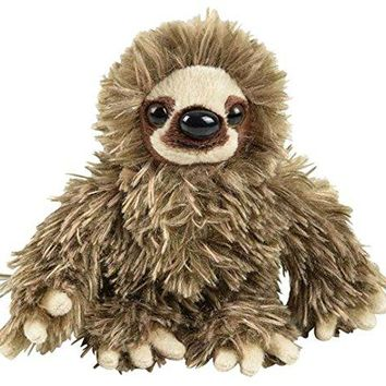 "Wildlife Tree 6"" Baby Three-Toed Sloth Stuffed Animal Zoo Plush"
