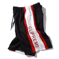 Supreme summer new Supreme color embroidered casual shorts