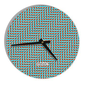 """Swimming Fish Optical Illusion 8"""" Round Wall Clock All Over Print"""