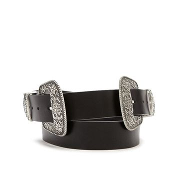Plus Size Double Buckle Belt