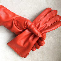 Leather Gloves & Handmade Jewelry by StrixArtAccessories