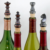 Chess Bottle Stoppers, Set of 4 | Bar| Kitchen & Dining | World Market