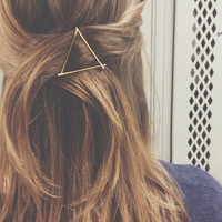 Gold Triangle Hair Clip