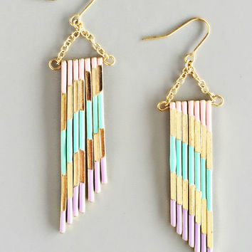 Pastel Parisian Cafe Earrings