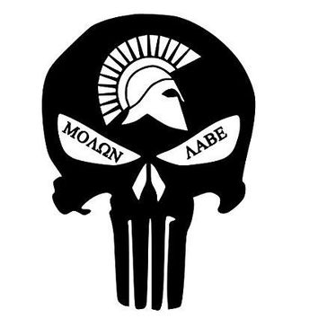 Molon Labe Punisher Sparta  Vinyl Car/Laptop/Window/Wall Decal