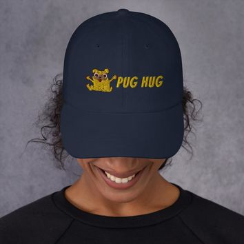 Embroidered Pug Hug Dad hat
