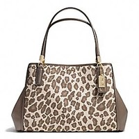 MADISON CAFE CARRYALL IN OCELOT JACQUARD