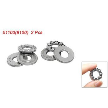 THGS 2 Pcs 10 x 24 x 9mm 51100 Single Direction Thrust Ball Bearings