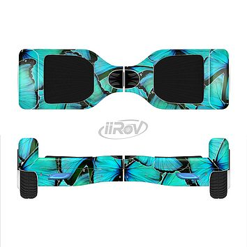 The Turquoise Butterfly Bundle Full-Body Skin Set for the Smart Drifting SuperCharged iiRov HoverBoard