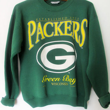 Vintage 1990s Green Bay Packers Football Wisconsin Sweatshirt