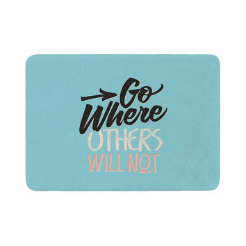 "Juan Paolo ""Go Where Others Will Not"" Vintage Blue Memory Foam Bath Mat"
