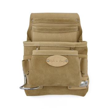 92924 - 10 Pocket Nail & Tool Pouch in Top Grain Leather