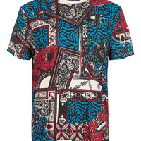 Multi Coloured Baroque T-Shirt - T-Shirts & Tanks - New In - TOPMAN USA