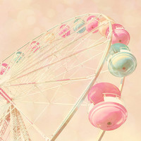 Carnival photo pastel pink decor baby girl room dreamy by bomobob