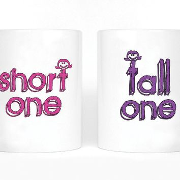 Short One and Tall One Girl BFFS Mugs