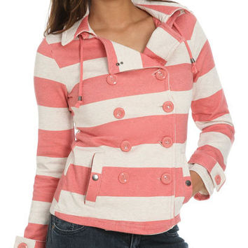 Rugby Stripe Fleece Jacket | Shop Jackets at Wet Seal