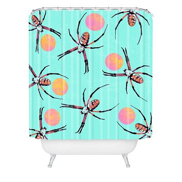 Elisabeth Fredriksson Spiders 3 v2 Shower Curtain