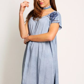 Asortia Embroidered Dress | Ruche