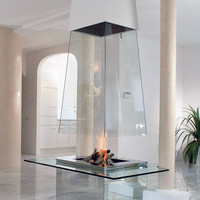 Glass fireplaces - Bloch Design