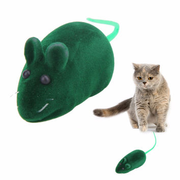 Practical Pile Coating Soft Rubber Cat Toy Mouse Pattern Phonate Sound Toys Pet Toy for Teeth Hot Sales