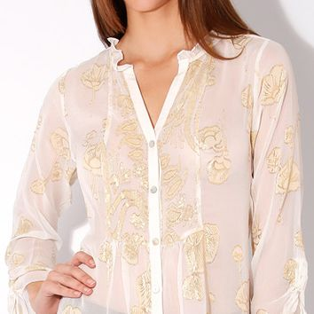 Poppy Floral Silk Blouse