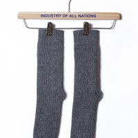 Alpaca Cabin Sock at INDUSTRY OF ALL NATIONS™ in HEATHER CHAR in ONE SIZE