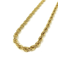 14k Gold Plated Thick Rope Chain Necklace