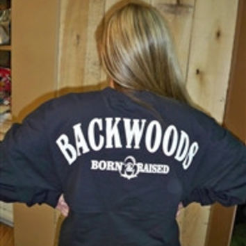Backwoods Born & Raised Black Spirit Bright Long Sleeve T Shirt Jersey