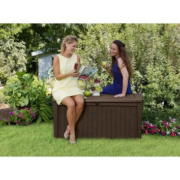 Garden Storage Box Extra Large Plastic Keter Shed Chest Waterproof Store Outdoor