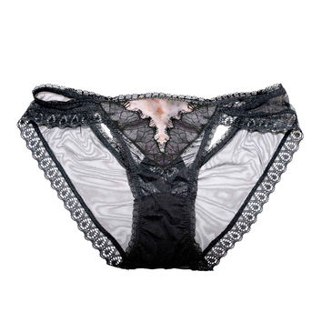 Claire Cross Back Luxe Panty in Black Flora