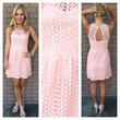 Pink Allie Texture Open Back Dress