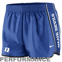 Nike Duke Blue Devils Womens Chainmaille Pacer Performance Shorts - Duke Blue