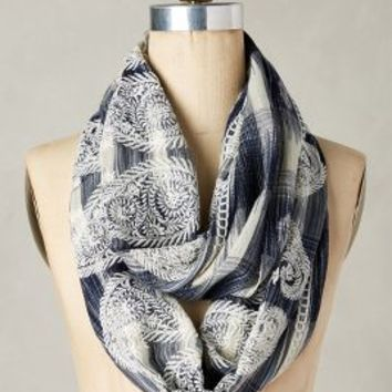 Javanica Infinity Scarf by Anthropologie in Blue Size: One Size Scarves