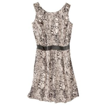 Mossimo® Women's Sleeveless Dress w/ Faux Leather Trim -Snake Print