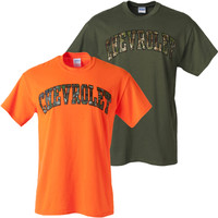 Chevrolet Camo Lettering T-Shirt - ChevyMall