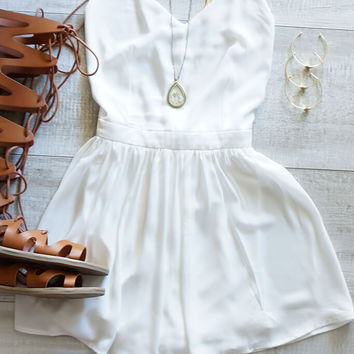 Grecia Escape Playsuit - White