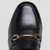 ASOS DESIGN Wide Fit Movement leather loafers at asos.com
