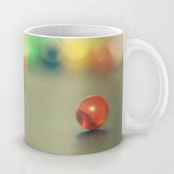 Art Coffee Cup Mug Marble Fun photography home decor Java Lovers yellow photo abstract green blue orange red green Geometric circles rainbow